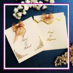 کارت عروسی کد 3781 کرم تصویر 1