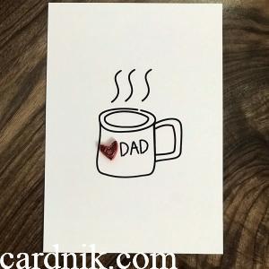 کارت پستال دستساز روز پدر 1